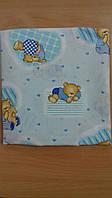 Комплект постельного белья в детскую кроватку 3 предмета, голубой