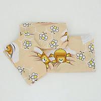 Комплект постельного белья в детскую кроватку 3 предмета, персик