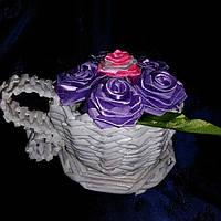 Чашка с цветами(белая)