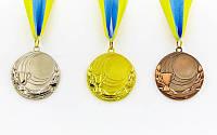 Заготовка спортивной медали с лентой PLUCK. Заготівля медалі