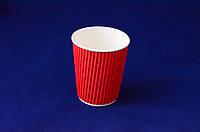 Гофрированный стакан 185 мл, красный