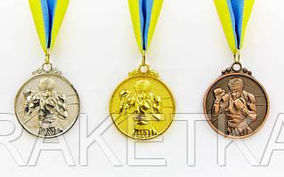 """Медаль с лентой """"Бокс"""" 5 см"""