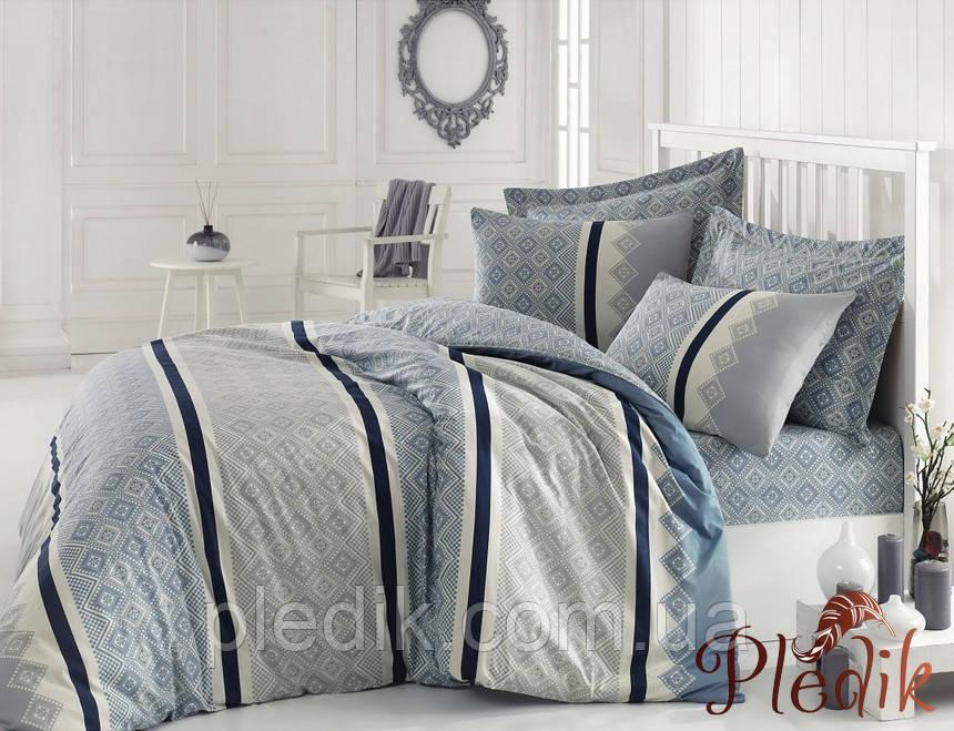 Двуспальное постельное бельё 200х220 Cotton box Ранфорс RIHANNA MINT