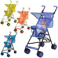 Коляска детская B-1 (4шт) тросточка, микс(оранж, зелен, голуб,фиолет),в кор-ке,104-17-15см