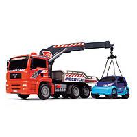 Машинка Dickie Toys эвакуатор с воздушной помпой и легковым автомобилем, 31 см. (3806000)