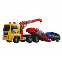 Машинка Dickie Toys эвакуатор с воздушной помпой и легковым автомобилем, 55 см. (3809001)