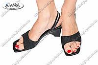 Женские сандалии черные (Код:320-5)