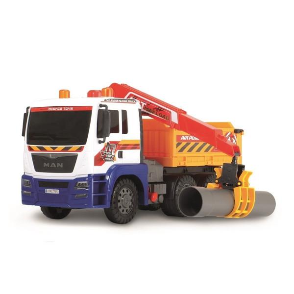 Грузовая машина Dickie Toys с воздушной помпой, краном и открытым кузовом, 46 см. (3809005) - Флаппи в Днепре