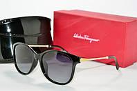 Солнцезащитные очки Ferragamo Polaroid черные