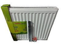 Стальной радиатор Terra Teknik 500x600 (11 тип) боковое подключение 656 Ват