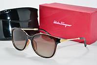 Солнцезащитные очки Ferragamo Polaroid коричневые