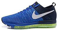 Мужские спортивные кроссовки Nike Zoom Flyknit Blue (Найк Зум) синие