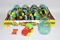 Яйцо пластиковое с игрушкой Бульдозер 12 шт Prestige