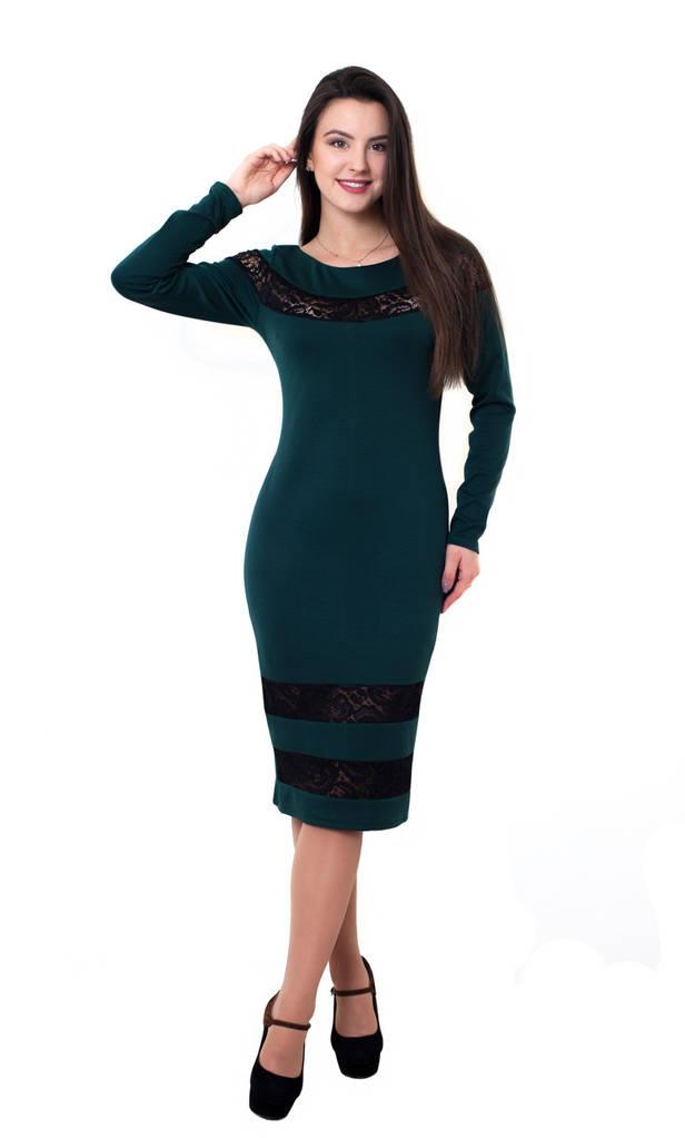 Платье Регина 0231_5 Тёмно-зелёное
