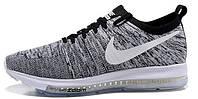 Мужские спортивные кроссовки Nike Zoom Flyknit Grey (Найк Зум) темно-серые