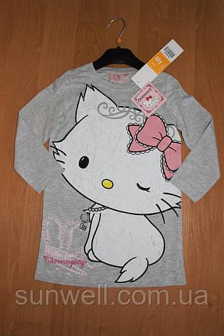 Детская ночная рубашка для девочек Китти, 3-8лет, фото 2