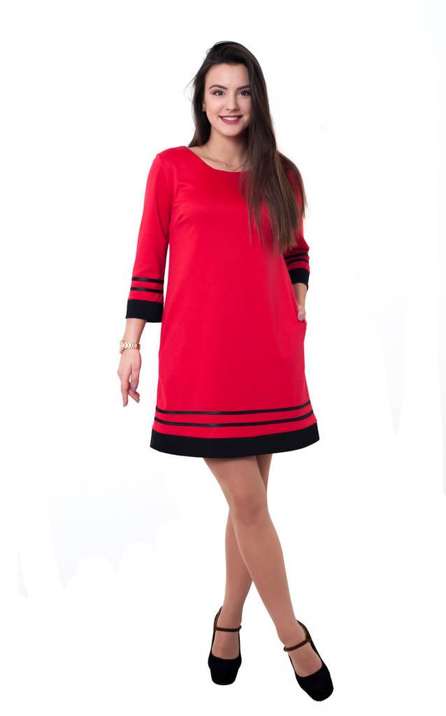 Платье Марта 0230_2 Красное