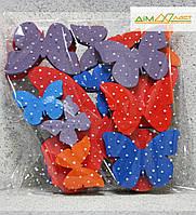 Метелики набір асорті 24шт. фарбовані