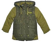 Демисезонная куртка для мальчика 3-7 лет Yixiang хаки