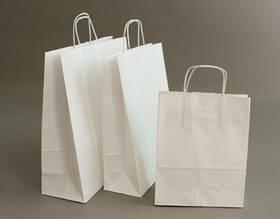 Бумажные крафт-пакеты белые