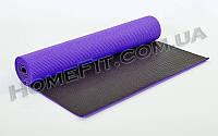 Коврик для йоги и фитнеса 2-х слойный  PVC 6 мм