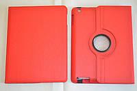 Поворотный 360° чехол-книжка для Apple iPad 2 / 3 / 4 (красный цвет)