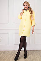 Элегантное женское желтое пальто  CR-10546-YLW   Caramella 48-58 размеры