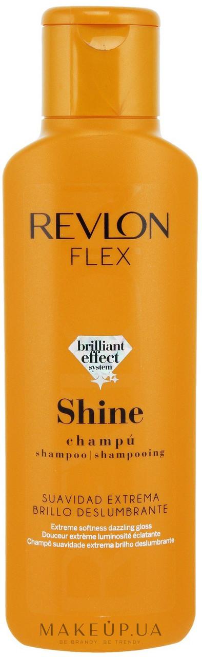 Revlon Flex Шампунь для блеска волос Keratin Shampoo for Shine Hair 400 мл