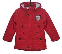 Демисезонная куртка для мальчика 4-8 лет Yixiang Ro красная
