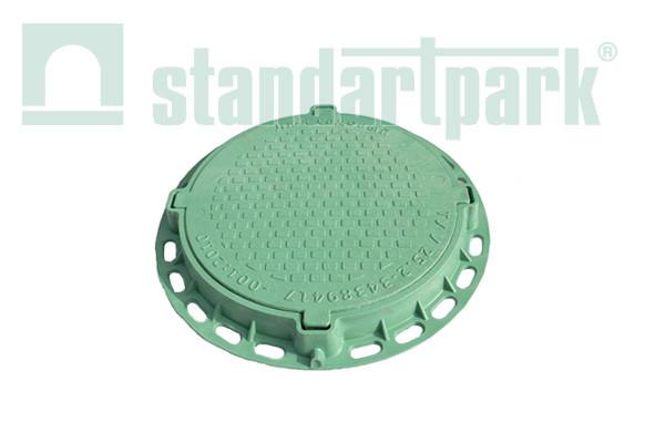 Люк Л-60.70.05-ПП садовый пластиковый зеленый Подсолнух