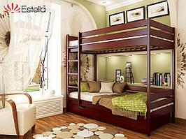 """Двоярусне дерев'яне ліжко із бука """"Дует"""""""