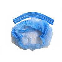 Шапочка-берет (одуванчик, шарлотка) (50 шт) цвет голубой или белый