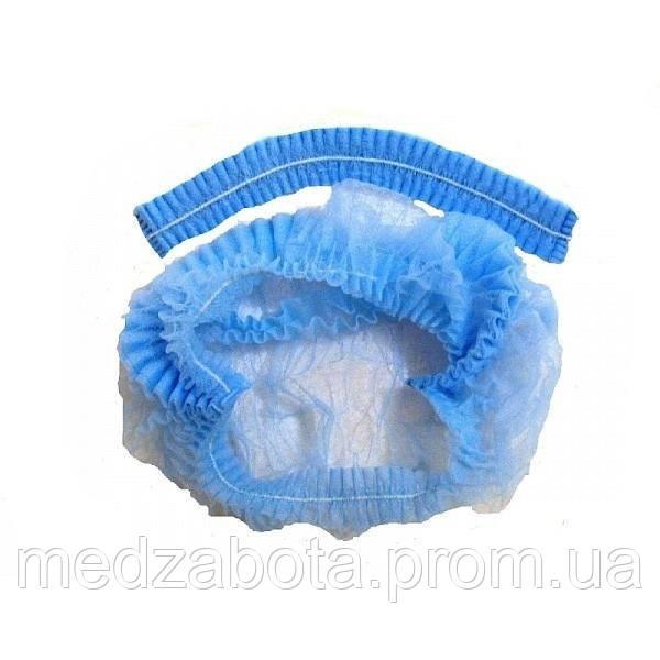 """Шапочка-берет (одуванчик, шарлотка) (50 шт) цвет голубой или белый - Медтехника """"Забота"""" в Днепре"""
