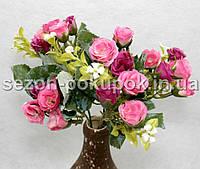 Букет розочки мелкой  (20-21 цветочек) Цвет -розовый Цена за букет