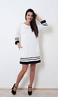 Платье свободного стиля Марта белого цвета