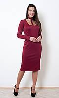 Обворожительное вечернее платье Кларисса бордового цвета