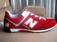 Кросівки чоловічі червоні замшеві New Balancе 40 -45 р-р, фото 1