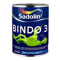 Краска для стен BINDO 3 2,5л - Глубокоматовая краска для стен и потолка (Биндо 3)
