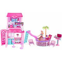 Уценка! Огромный набор Пляжный домик для Барби Mattel BCG75 коробка 105см длиной