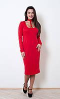 Очаровательное вечернее платье Кларисса  красного цвета