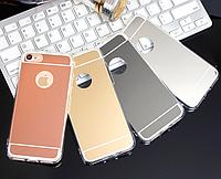 Зеркальный силиконовый чехол iPhone 7