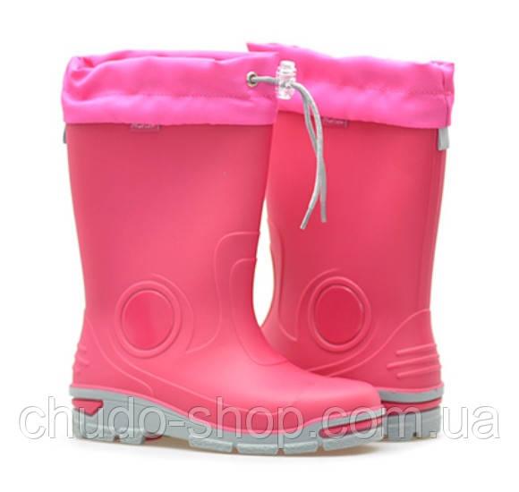 Резиновые сапоги Muflon 33-487 розовые (размеры с 29 по 36)