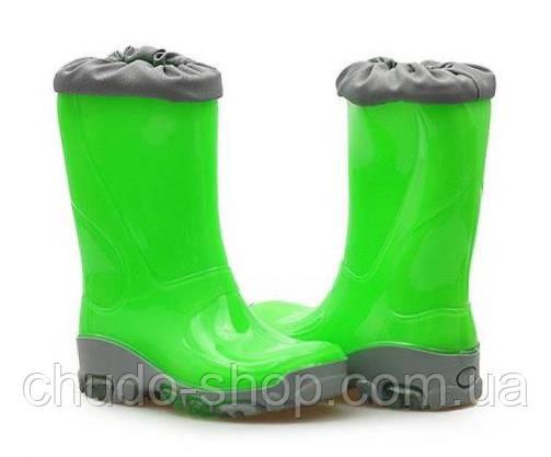 Резиновые сапоги Muflon FLUO 33-492 зеленые (размеры с 29 по 36)