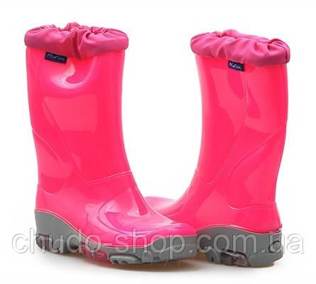 Резиновые сапоги Muflon FLUO 33-492 розовые (размеры с 29 по 36)