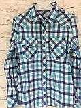 Рубашка в клетку для девочек 6-14 лет, фото 2