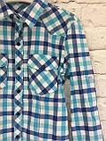 Рубашка в клетку для девочек 6-14 лет, фото 3