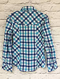 Рубашка в клетку для девочек 6-14 лет, фото 4