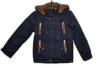 Демисезонная куртка для мальчика 8-12 лет JieKei темно-серая
