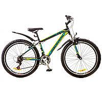 """Велосипед 26"""" Discovery TREK AM 14G  DD  рама-15"""" St черно-сине-зеленый  с крылом Pl 2018"""