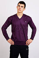 Пуловер мужской POLO баклажановый